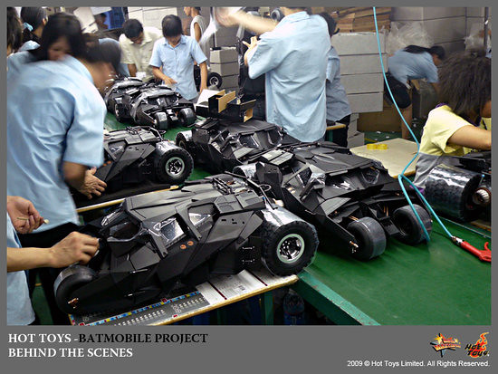 Hot Toys - Batmobile under Development in China