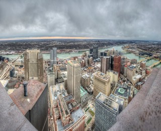 Pittsburgh panorama from the roof of the Steel Building HDR | by Dave DiCello