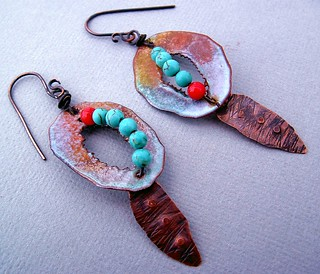 Painted Desert Earrings | by Vintajia Adornments