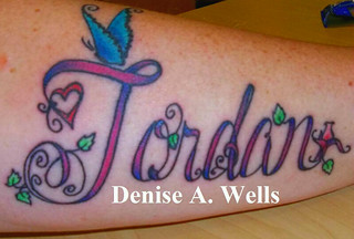 Jordan Tattoo Design  by Denise A. Wells | by ♥Denise A. Wells♥