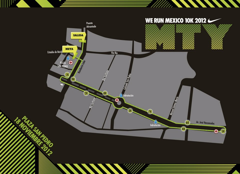 ... Ruta carrera Nike We Run Mexico 2012 Monterrey  7f558c71e5db8