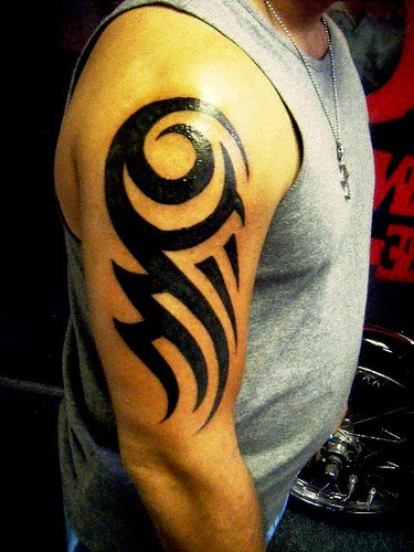 Tribal Arm Piece Tattoo | by juliepiscopo