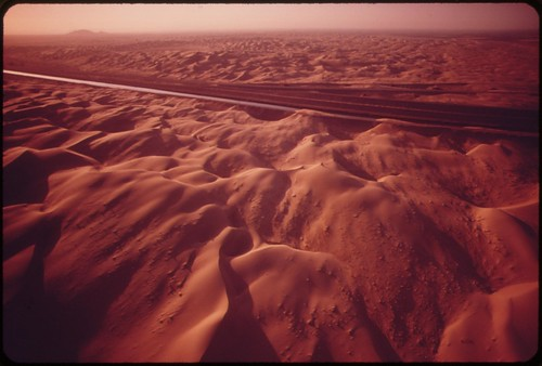 The All-American Canal carries Colorado River water through the sand dunes of the western part of the Imperial Valley, May 1972 | by The U.S. National Archives