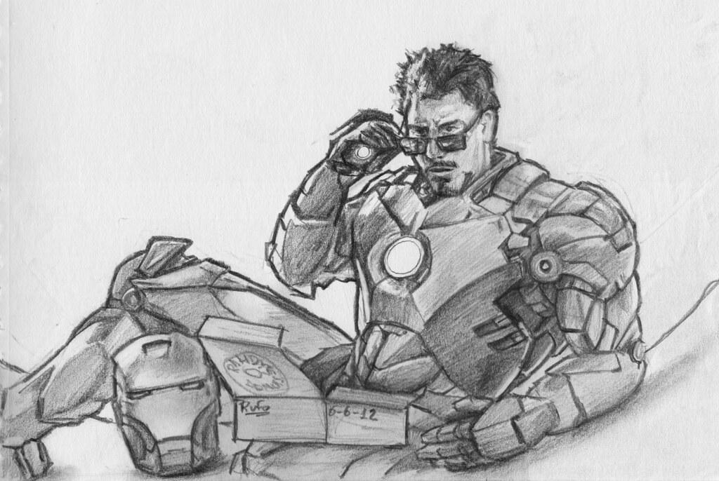 Avengers Dibujos Lapiz De Iron Man Wwwimagenesmycom