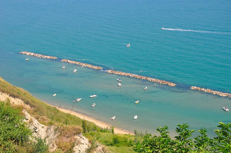 Spiaggia di Fiorenzuola di Focara (PU), a 20 Km da Rimini