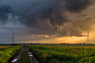 A Fenland thunderstorm receeds.... | by Martyn Fordham LRPS