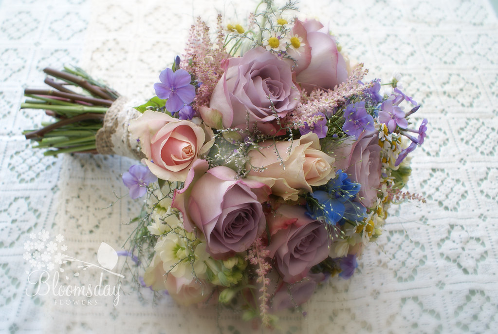 vintage pastel posy | round bridal bouquet | Bloomsday Flowers | Flickr