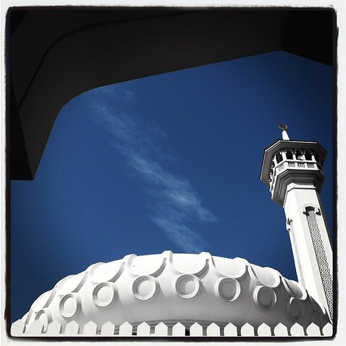 #Dome & #Minaret of #Mosque in the Ruler's Court in Bur #Dubai | by Morven McPherson