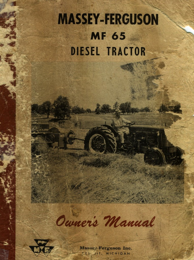 Massey Ferguson MF 65 DIESEL Tractor Manual