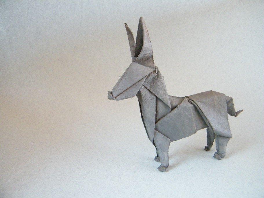 Origami Le le petit âne christophe boudias from a square recycled p flickr