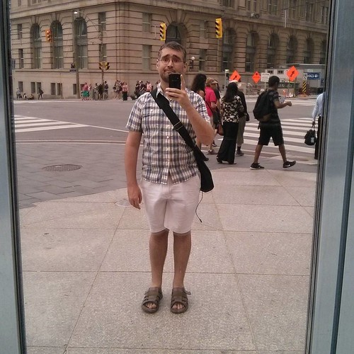 Selfie against Royal Bank of Canada gold #toronto #me #selfie #gold #mirror #window #royalbankplaza