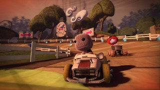 LittleBigPlanet Karting - Racing scene gardens sackboy | by PlayStation Europe