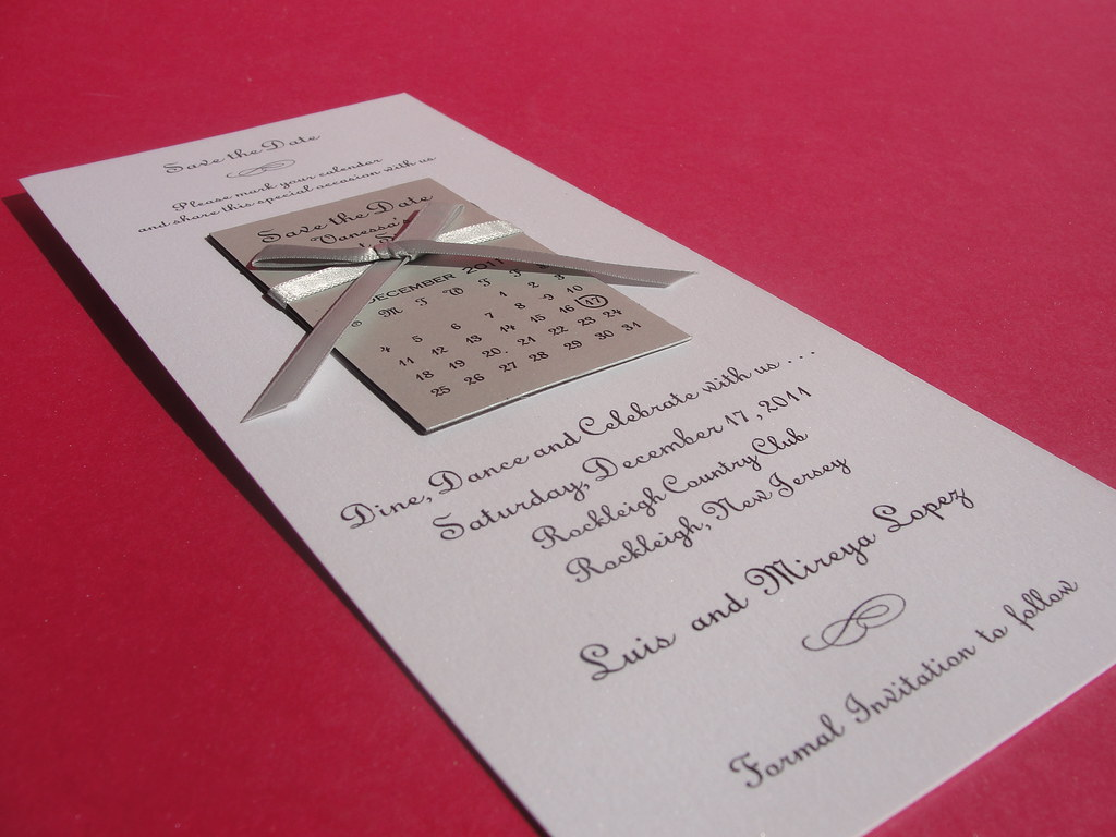 Save the Date with removable Magnet Calendar Invitation | Flickr