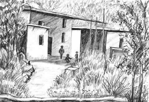 Aupoman Scenery Drawing Rurality Bungalow
