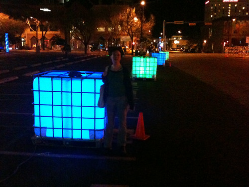 Glowing cubes in Austin | by Jesus H. Shatner