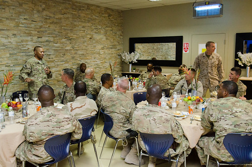 SEAC Battaglia and CSM Capel address servicemembers in Kandahar | by ResoluteSupportMedia