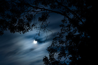 Full Moon & Drifting Clouds | by Truebritgal