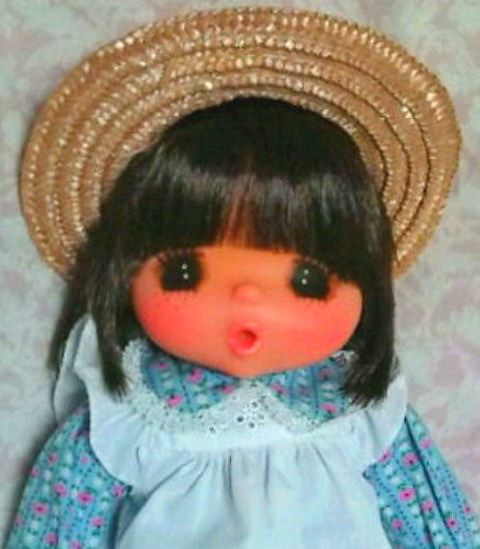 Vintage Sekiguchi Japan Doll Plaid Dress Sleep Eyes by MoonParade
