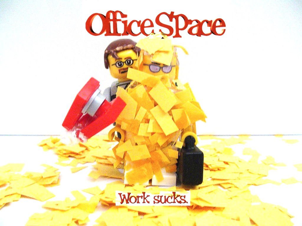 lego office space wallpaper | lego office space custom mini-… | flickr