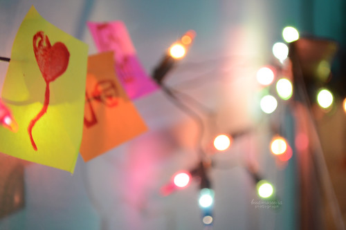 new stamps+post it+ lights <3 | by beeamoreira