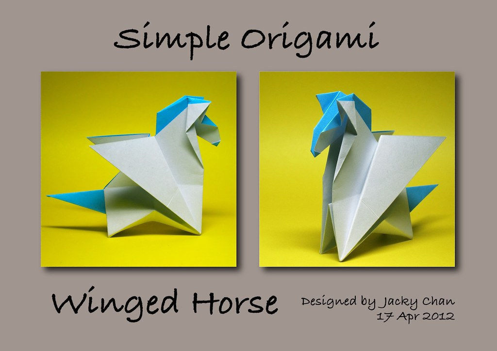 Simple Origami Winged Horse By Jacky Chan