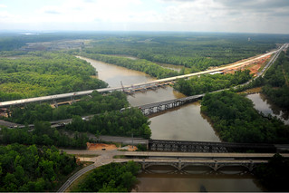 Aerial Photo of New Yadkin River Bridges | by NCDOTcommunications