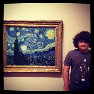 Got yelled at by security again; this time for standing to close to Starry Night… THE Starry Night. #Awesome #MoMA #nyc2012 | by jonathanpettus