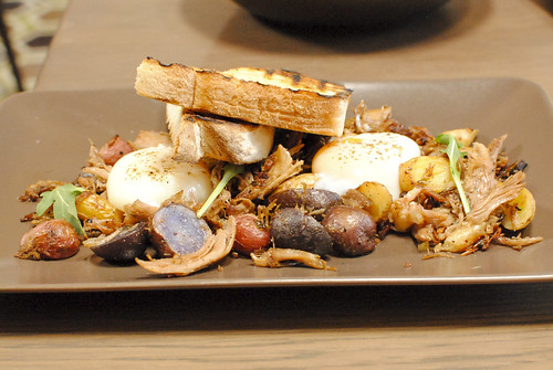 Duck Hash Weiser Farm fingerlings, peppers, 63° egg | by Darin Dines