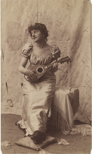 Variation of Woman with a Lute - Albumen Photograph by an Unidentified Photographer | by Photo_History - Here but not Happy