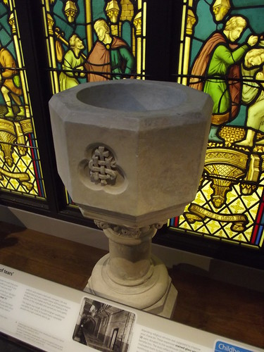 Birmingham History Galleries - Birmingham its people, its history - Forward - Archway of tears - Baptismal font | by ell brown