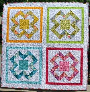 X Marks the Spot baby quilt | by sewcraftyjess