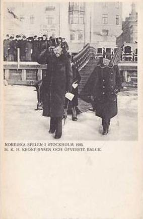 Crown Prince Gustaf Adolf of Sweden at the Nordic Games 1905 in Stockholm | by Miss Mertens