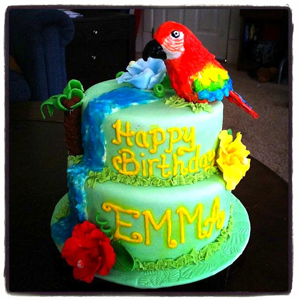 Parrot cake for Emma All decorations completely edible Pa Flickr