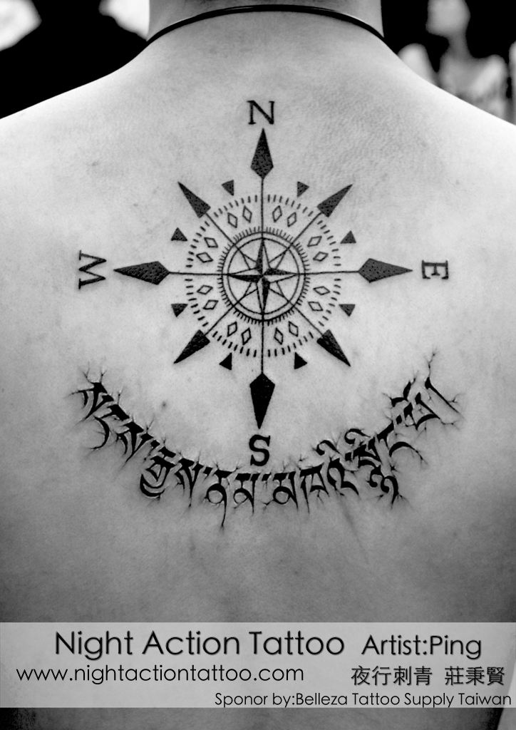 compass rose tattoo | ping\'s tattoo | Flickr