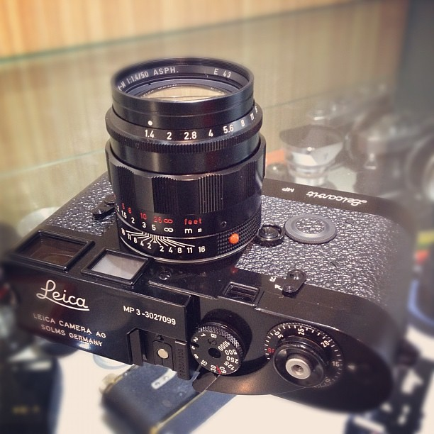 Leica Mp3 Black Paint Lhsa Special Edition With 50mm F1 4 Asph And Leicavit Lhsa