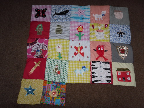 school project, each pupil designed and stitched a square of the quilt | by suzysu sparkles