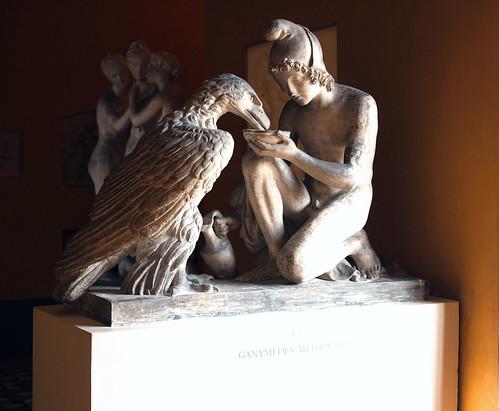 3D Printable Ganymede with Jupiters Eagle by Thorvaldsens