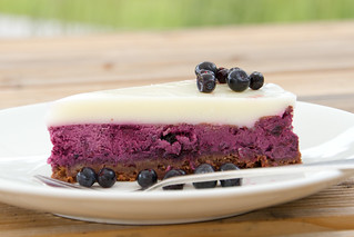 Bilberry cheesecake / Blueberry cheesecake / Mustika-toorjuustukook | by Pille - Nami-nami