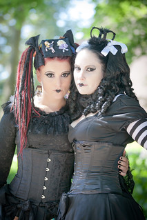 2012-08-03 Castlefest 2012, Miss Dark Lady & Miss Dark Fairy | by Qsimple, Memories For The Future Photography
