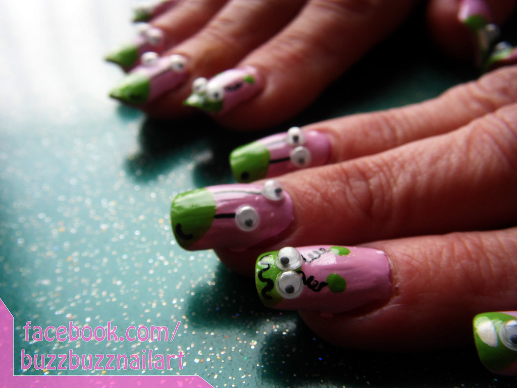 Funny Monster Nail Art | Fun monsterry nail art with 3D goog… | Flickr
