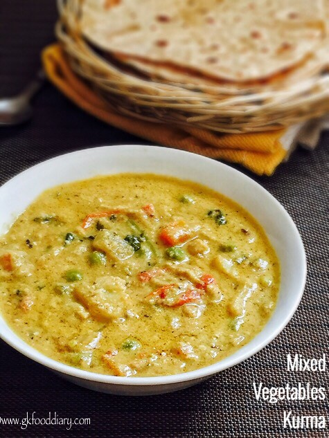 Mixed Vegetables Kurma Recipe for Toddlers and Kids2
