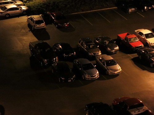 Nighttime parking lot | by jcgr