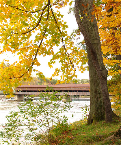The Harpersfield Covered Bridge | by kuddlyteddybear2004