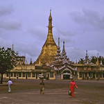 Sule Pagoda at dusk - Rangoon