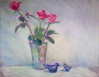 Glass birds and roses | by kumi matsukawa