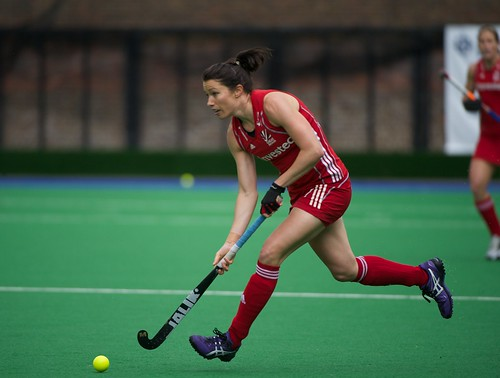 Anne Panter flies forward with the ball for GB | by IanAWood