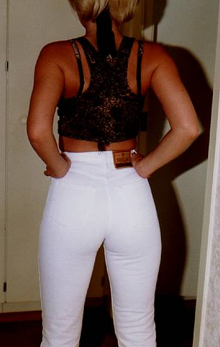 Tight White Pants