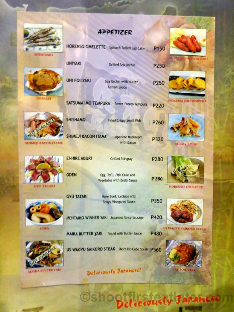 Tanabe japanese restaurant 39 s menu flickr for Akina japanese cuisine menu