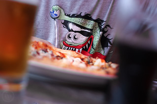 Monster on a Tee Eating a Pizza | by Mefi.