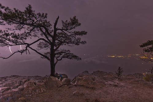 Storm Chasing Lightning Behind a Tree on the BRP # 2 | by curtisWarwick
